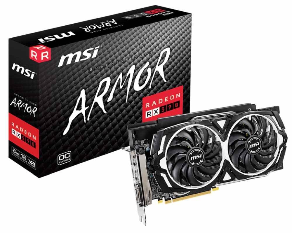 Видеокарта MSI RX 590 ARMOR 8G OC 8192 МБ - фото 5