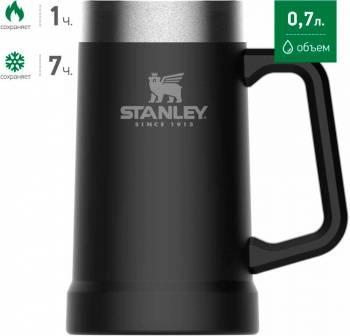 Термокружка Stanley Adventure Vacuum Stein черный (10-02874-034)