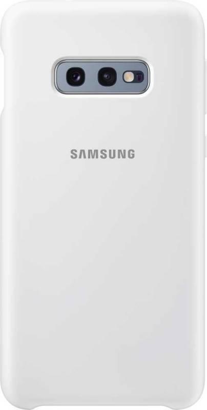 Чехол Samsung Silicone Cover, для Samsung Galaxy S10e, белый (EF-PG970TWEGRU) - фото 1