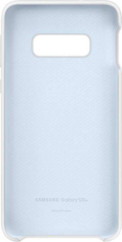 Чехол Samsung Silicone Cover, для Samsung Galaxy S10e, белый (EF-PG970TWEGRU) - фото 3