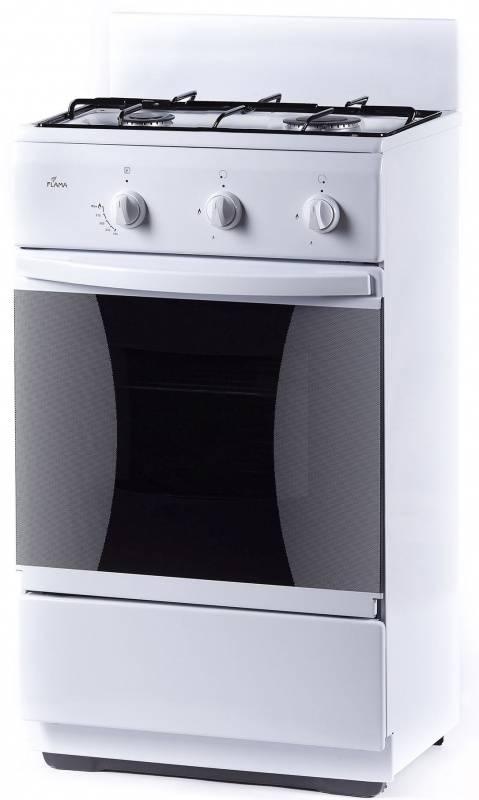 Плита газовая Flama CG 32010 W белый, без крышки - фото 1