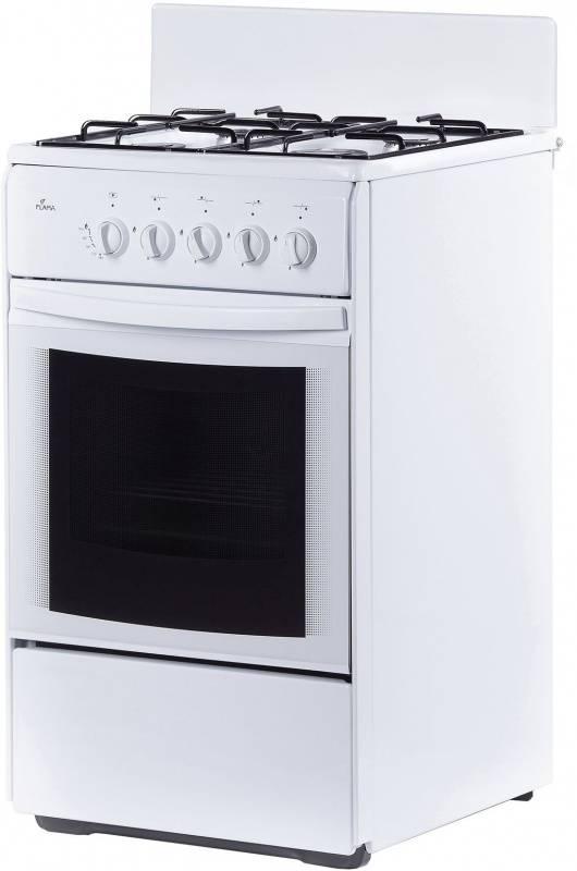 Плита газовая Flama RG 24035 W белый, без крышки - фото 1