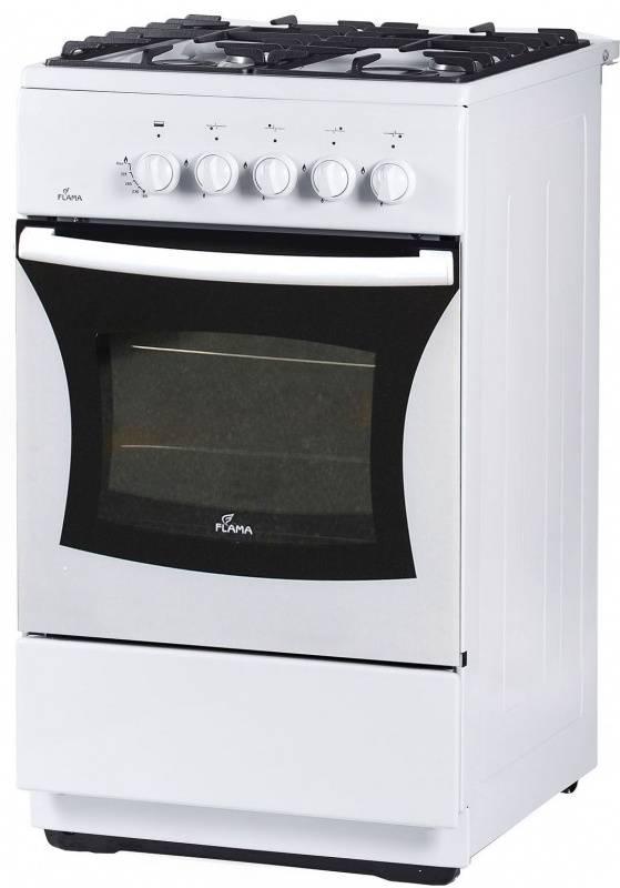 Плита газовая Flama FG 24028 W белый, без крышки - фото 1