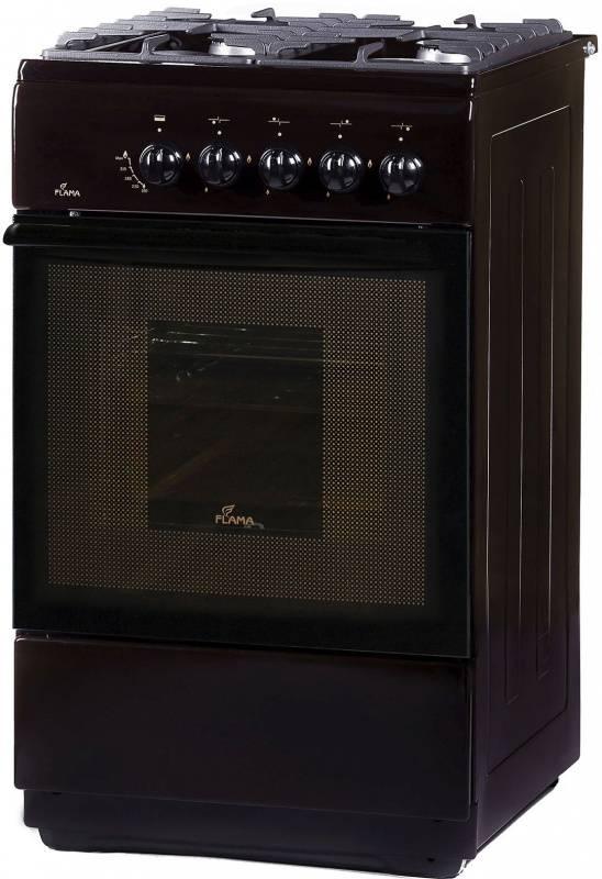 Плита газовая Flama FG 24028 B коричневый, без крышки - фото 1