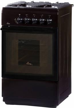 Плита газовая Flama FG 24028 B коричневый, без крышки