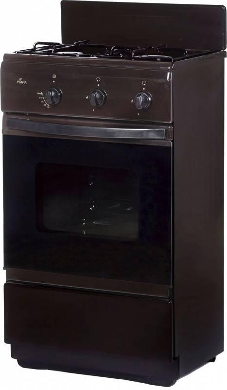 Плита газовая Flama CG 32010 B коричневый, без крышки - фото 1