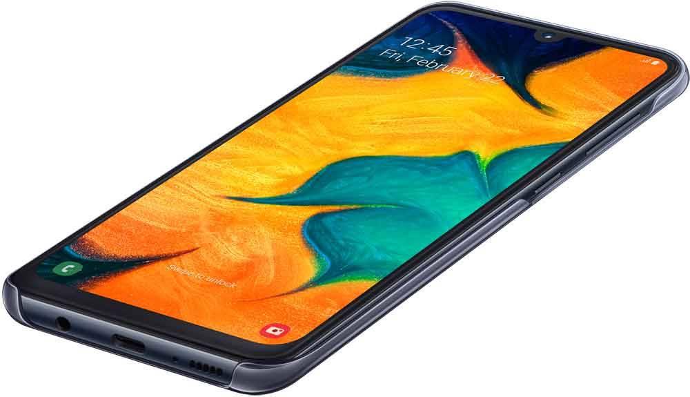 Чехол Samsung Gradation Cover, для Samsung Galaxy A30, черный (EF-AA305CBEGRU) - фото 4