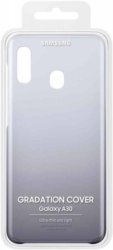 Чехол Samsung Gradation Cover, для Samsung Galaxy A30, черный (EF-AA305CBEGRU) - фото 5