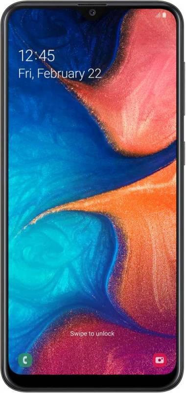 Смартфон Samsung Galaxy A20 SM-A205F 32ГБ черный (SM-A205FZKVSER) - фото 1