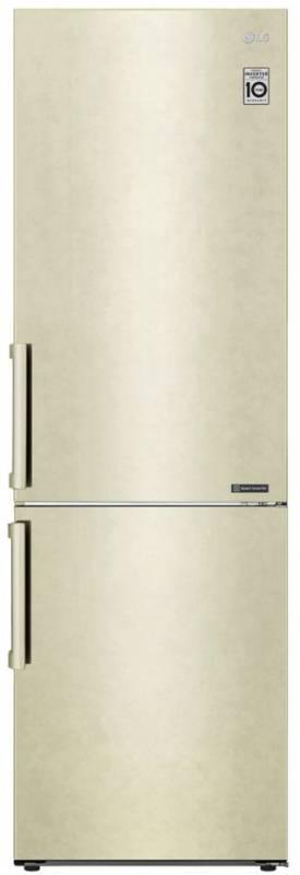 Холодильник LG GA-B459BECL бежевый - фото 1