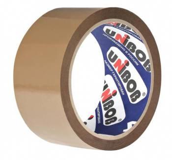 Клейкая лента упаковочная Unibob 600 коричневая (28131)