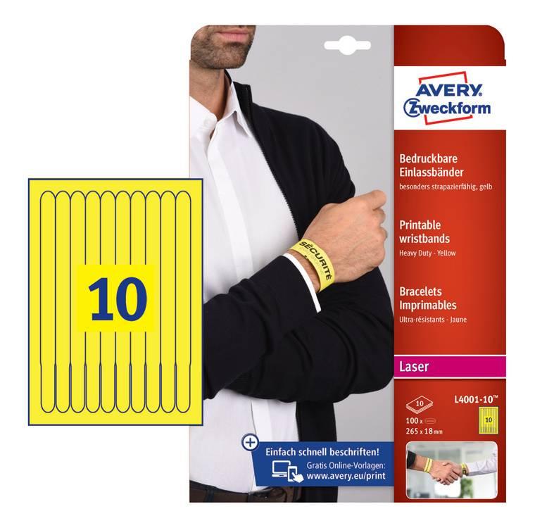 Пленка Avery Zweckform L4001-10 198г/м2 10л. желтый - фото 1