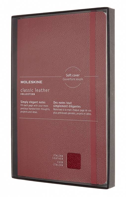 Блокнот Moleskine Limited Edition Leather Large красный (LCLH31HF1BOX) - фото 1