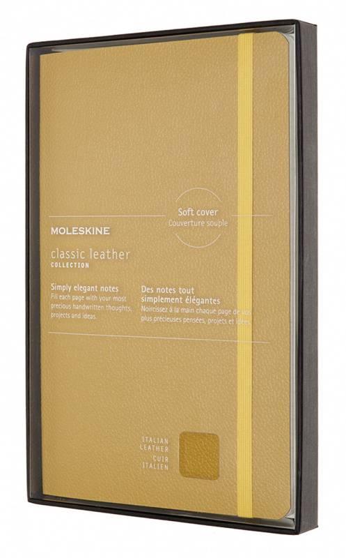 Блокнот Moleskine Limited Edition Leather Large желтый (LCLH31SM17BOX) - фото 1