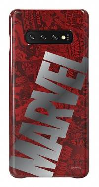Чехол Samsung Marvel Case MBigLogo, для Samsung Galaxy S10+, красный (GP-G975HIFGHWG)
