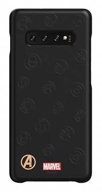 Чехол Samsung Marvel Case AvLogo, для Samsung Galaxy S10+, черный (GP-G975HIFGHWE)