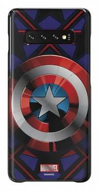 Чехол Samsung Marvel Case CAmerica, для Samsung Galaxy S10+, синий (GP-G975HIFGHWC)