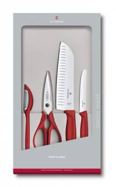 Набор кухонных ножей Victorinox Swiss Classic Kitchen красный (6.7131.4G)