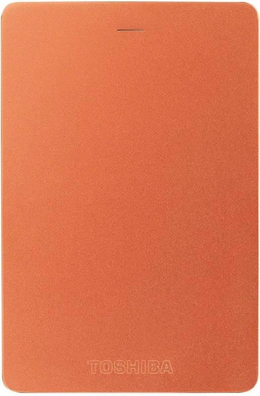 Внешний жесткий диск 1Tb Toshiba Canvio Alu HDTH310ER3AB красный USB 3.0 - фото 1