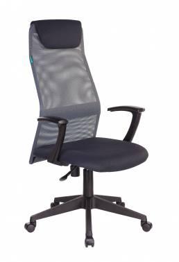Кресло руководителя Бюрократ KB-8N серый (KB-8N/DG/TW-12)