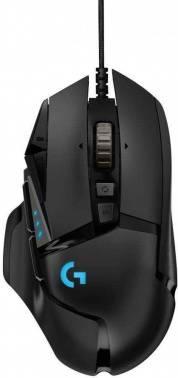 Мышь Logitech G502 RGB Tunable HERO черный (910-005470)