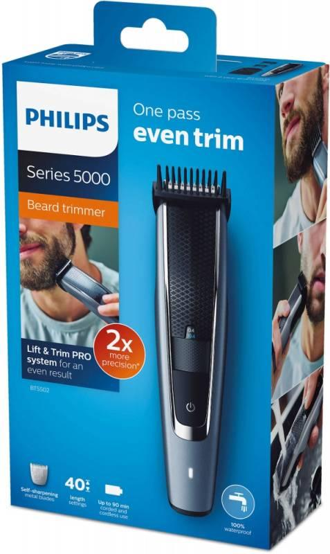 Триммер Philips BT5502/15 серый/черный - фото 7