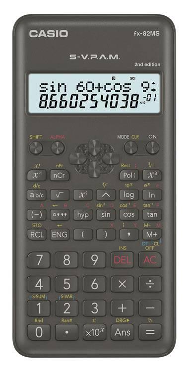 Калькулятор научный Casio FX-82MS-2 черный (FX-82MS-2-S-ET-D) - фото 1