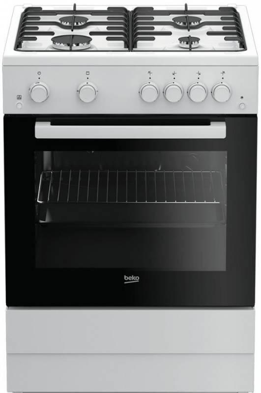 Плита газовая Beko FSGT62110GW белый/черный - фото 1