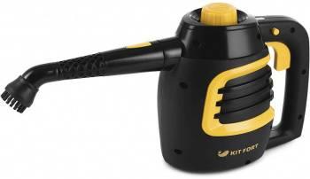 Пароочиститель ручной Kitfort КТ-930 черный/оранжевый