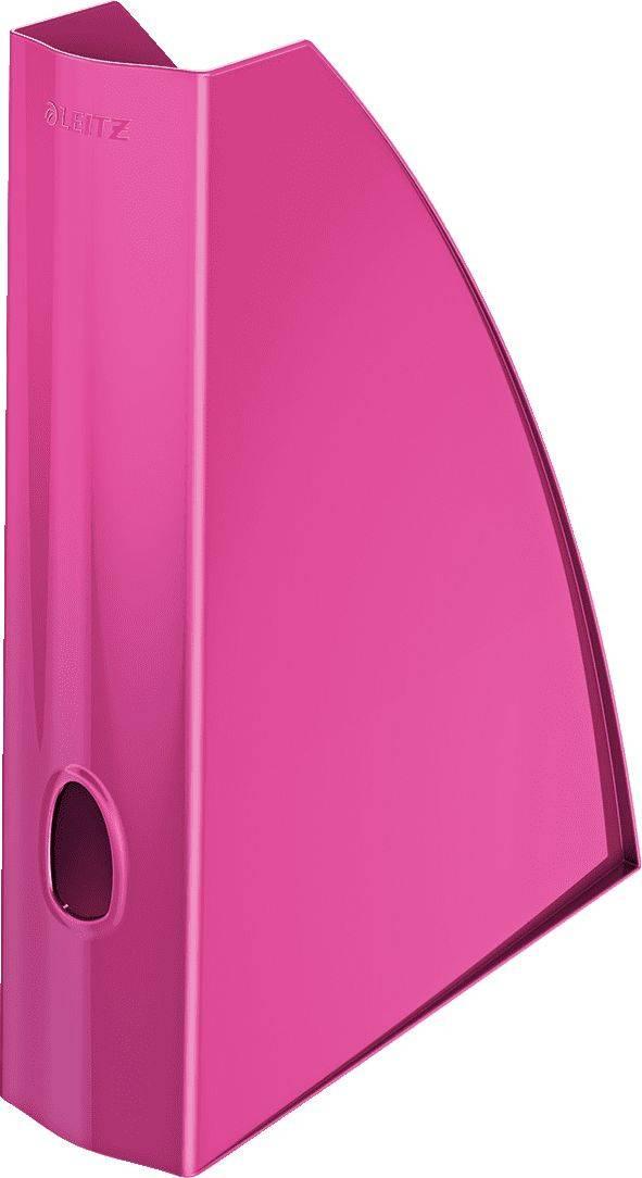 Лоток вертикальный Esselte Leitz WOW розовый металлик (52771023) - фото 1