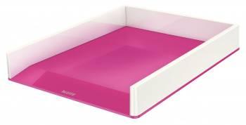 Лоток горизонтальный Esselte Leitz WOW розовый металлик/белый (53611023)