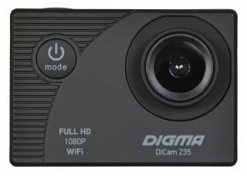 Экшн-камера Digma DiCam 235 черный (DC235) (плохая упаковка)