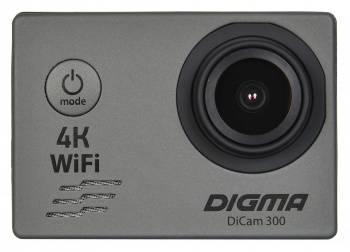 Экшн-камера Digma DiCam 300 серый (DC300) (плохая упаковка)