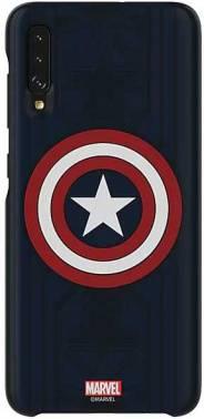 Чехол Samsung Marvel Case Captain America, для Samsung Galaxy A70, синий (GP-FGA705HIALW)