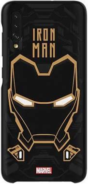 Чехол Samsung Marvel Case Iron man, для Samsung Galaxy A70, черный (GP-FGA705HIABW)