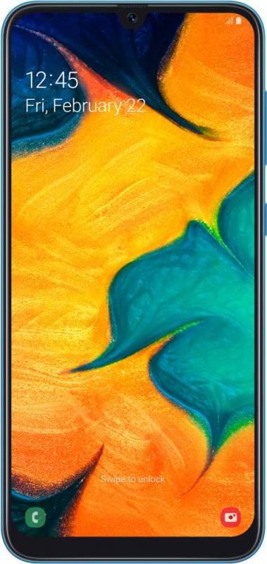 Смартфон Samsung Galaxy A30 SM-A305F 64ГБ синий (SM-A305FZBOSER) - фото 1