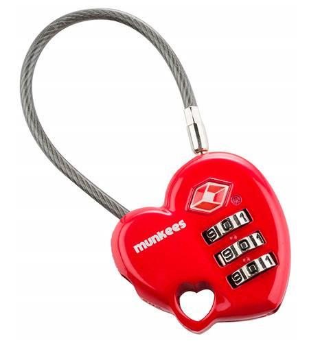 Замок Munkees Combination Lock - Heart красный (3606) - фото 1