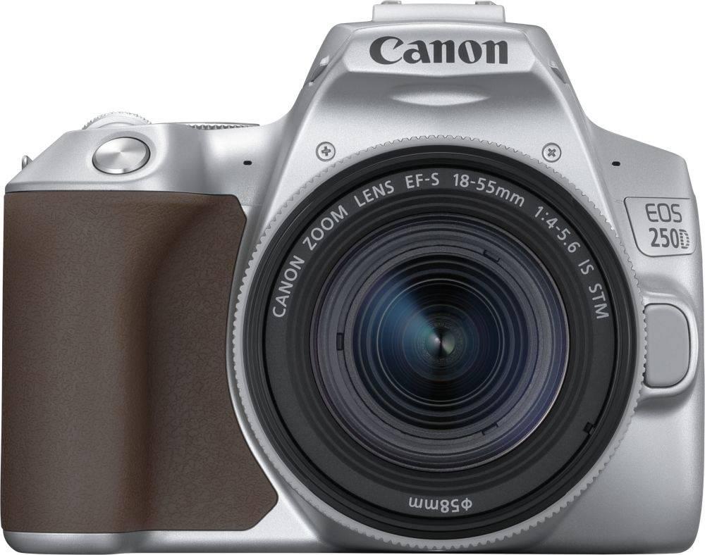 Фотоаппарат Canon EOS 250D серебристый, 1 объектив (3461C001) - фото 1