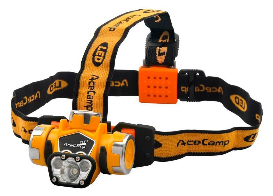 Налобный фонарь AceCamp Extreme оранжевый (1035) - фото 1