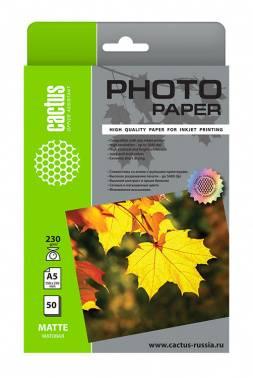 Фотобумага Cactus CS-MA523050 A5 230г/м2 50л.