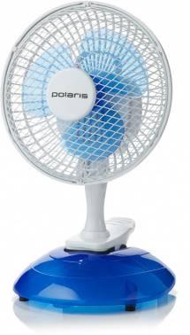 Вентилятор настольный Polaris PCF белый/синий (PCF 15W)