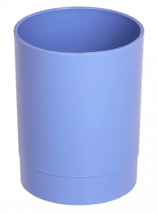 Стакан для канцелярских принадлежностей Стамм СН640 ОФИС Berlin пластик голубой - фото 1