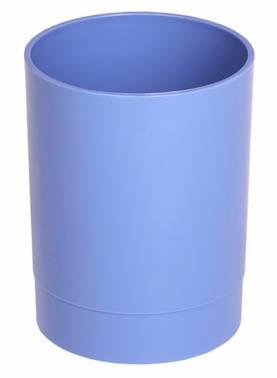 Стакан для канцелярских принадлежностей Стамм СН640 ОФИС Berlin пластик голубой