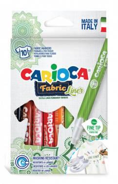 Фломастеры для ткани Carioca Fabric Liner 10цв. (42909)