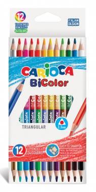 Карандаши цветные Carioca Bicolor 12цв. (42991)