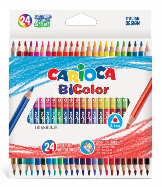 Карандаши цветные Carioca Bicolor 24цв. (43031)