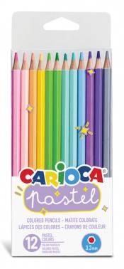 Карандаши цветные Carioca Pastel 12цв. (43034)