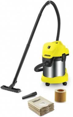 Строительный пылесос Karcher WD 3 Premium Jubilee желтый (16298610)