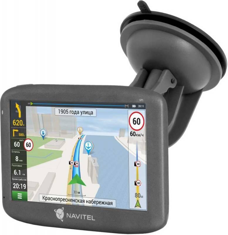 "GPS-навигатор Navitel E505 Magnetic 5"" черный - фото 1"