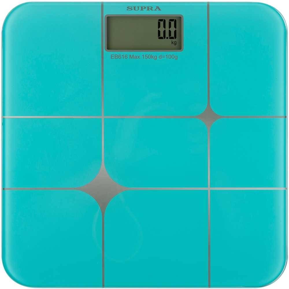 Весы напольные электронные Supra BSS-5003 бирюзовый (11878) - фото 1